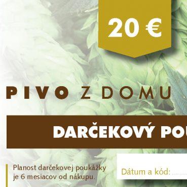 PIVO Z DOMU darcekove poukazy 14x7 cm 20 (1)