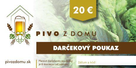 PIVO Z DOMU darcekove poukazy 14×7 cm 20 (1)