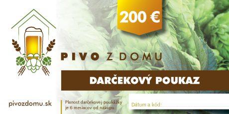 PIVO Z DOMU darcekove poukazy 14×7 cm5 200 (1)